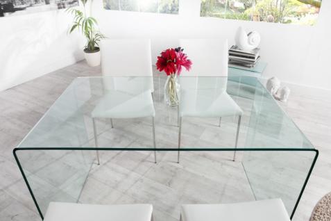 Moderner Design Esstisch Glas 120 cm - Ghost Table - von Casa Padrino - Esszimmer Tisch - Schreibtisch