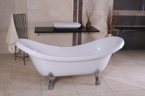 freistehende luxus badewanne jugendstil venedig wei silber barock badezimmer retro. Black Bedroom Furniture Sets. Home Design Ideas