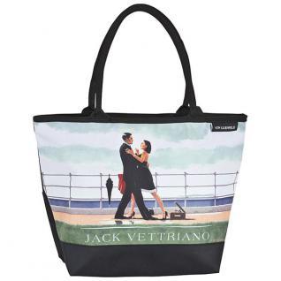 """Designer Shoppertasche mit dem Motiv des schottischen Künstlers Jack Vettriano """" Der Walzer am Jahrestag"""" - Elegante Tasche - Luxus Design"""