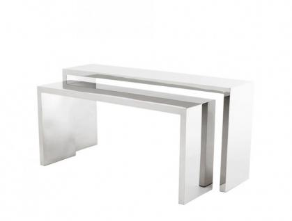 Casa Padrino Luxus Konsolen 2er Set - Konsolen Tisch Möbel