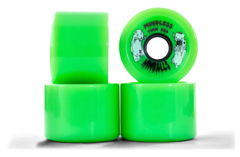 Mindless Longboard Wheel Set (4 Rollen) Nimball Green 71mm / 80A - Cruiser Skateboard Rollen - Wheels