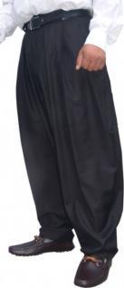 Il Padrino Moda Luxus Bundfalten Hose Schwarz Gr. 46 - Mafia Obst Designer Hose - weitgeschnitten