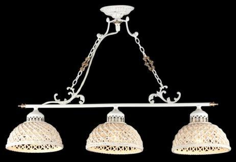 Casa Padrino Barock Kristall Decken Kronleuchter Weiß Gold 72 x H 52 cm Antik Stil - Möbel Lüster Leuchter Hängeleuchte Hängelampe