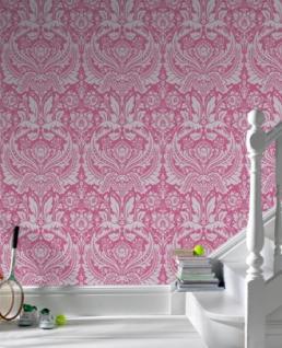 Graham & Brown Barock Tapete Desire 50-024 Pink / Silber