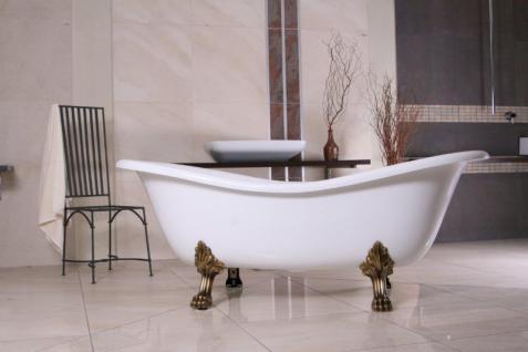 freistehende luxus badewanne jugendstil paris wei altgold 1880mm barock badezimmer kaufen. Black Bedroom Furniture Sets. Home Design Ideas