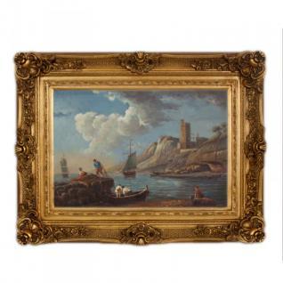 Handgemaltes Barock Öl Gemälde Landschaft Nr 1 Gold Prunk Rahmen 130 x 100 x 10 cm - Massives Material