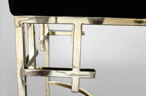 casa padrino art deco luxus hocker edelstahl gold. Black Bedroom Furniture Sets. Home Design Ideas