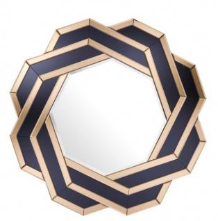 Casa Padrino Luxus Designer Wandspiegel Amber Gold B 90 x H 90 cm - Luxury Hotel Collection