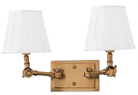 Casa Padrino Luxus 2er Wandleuchte Weiss / Antik Stil Messing - Leuchte - Luxury Collection