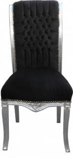 casa padrino barock hochlehner esszimmer stuhl schwarz silber hochlehnstuhl m bel kaufen bei. Black Bedroom Furniture Sets. Home Design Ideas