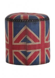 Union Jack Sitzhocker Mod3 - Englische Flagge - Rundhocker England