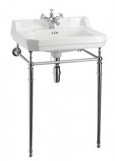 Casa Padrino Jugendstil Stand Waschtisch Weiß / Chrom Mod2 - Art Deco Waschbecken Barock Antik Stil