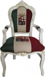 Casa Padrino Barock Esszimmer mit Armlehnen Italien / Creme Antik Stil