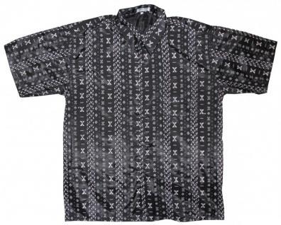Thai Seidenhemd von Il Padrino Moda Black/White Mod19