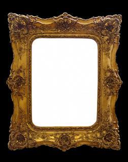 Casa Padrino Barock Wandspiegel Gold mit Doppelrahmen - 120 x 105 cm - Edel & Prunkvoll
