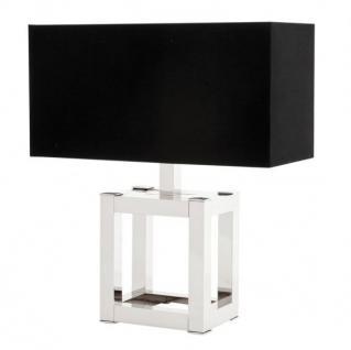 Casa Padrino Luxus Tischleuchte Nickel Durchmesser 22 x 50 x H 57, 5 cm - Leuchte - Tischleuchte