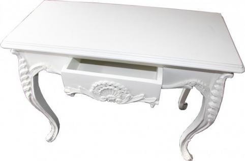 Casa Padrino Konsolentisch Weiß mit Schublade - Damen Schreibtisch - Sekretär Konsole