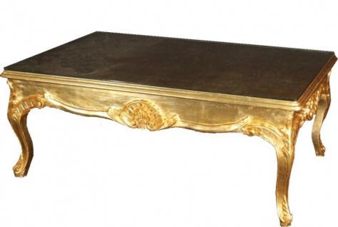 Casa Padrino Barock Couchtisch Gold 140 x 80 cm - Wohnzimmer Salon Tisch Möbel