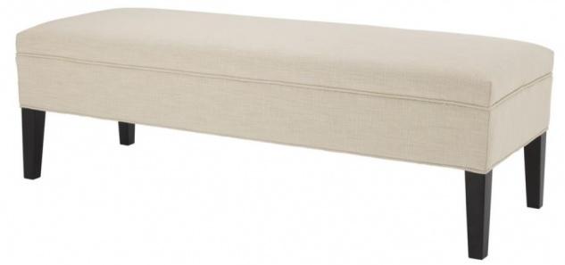 Casa Padrino Designer Sitzbank Elfenbein 140 x 50 x H. 45 cm - Luxus Möbel