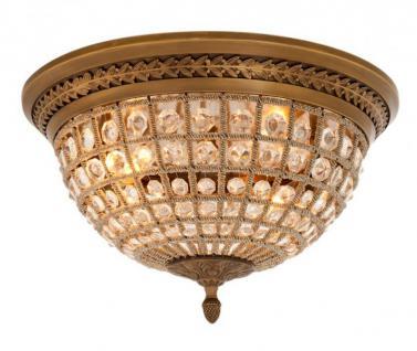 Casa Padrino Luxus Deckenleuchte Messing Durchmesser 45 x H 37 cm Antik Stil - Möbel Lüster Deckenlampe