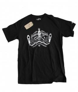 Pirate Service Dismal Trader Skateboard T-Shirt Black/white