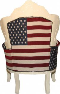 casa padrino barock sessel king usa creme m bel antik stil amerikanische flagge amerika. Black Bedroom Furniture Sets. Home Design Ideas