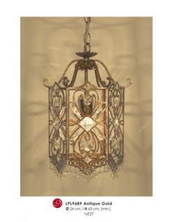 Orientalische Designer Pendelleuchte mit Kristall-Deco Antik Gold ModP2 Leuchte Lampe aus dem Hause Casa Padrino