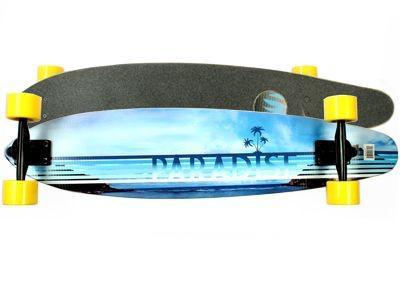 Paradise Longboard Skateboard Beach Front Fiberglas Kicktail Complete Longboard