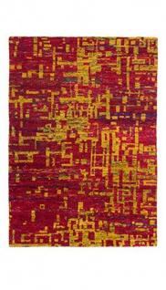 Casa Padrino Designer Seidenteppich Vintage Look Magma - Handgeknüpft - Möbel Teppich Seide
