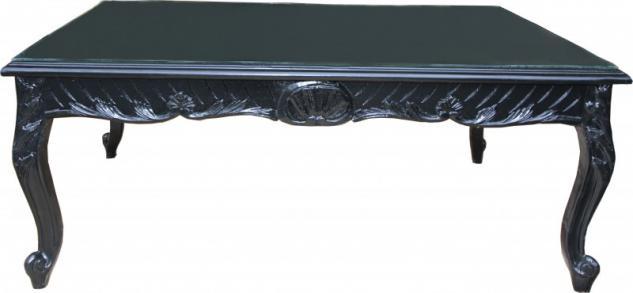 Casa Padrino Barock Couchtisch Schwarz 120 x 80 cm - Mod2