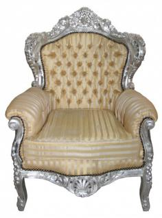casa padrino barock sessel king mod 2 gold beige. Black Bedroom Furniture Sets. Home Design Ideas