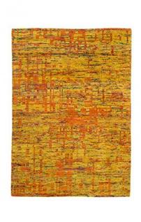 Casa Padrino Designer Seidenteppich Vintage Look Gold - Handgeknüpft - Möbel Teppich Seide