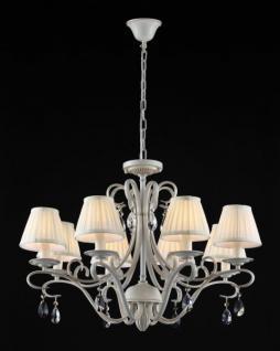 Casa Padrino Barock Kristall Decken Kronleuchter Cream Gold 76 x H 53 cm Antik Stil - Möbel Lüster Leuchter Hängeleuchte Hängelampe