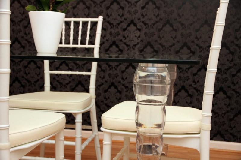 Designer acryl esszimmer set weiß/creme   ghost chair table ...
