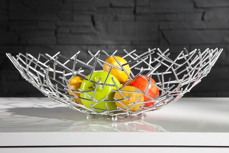 designer obstschale structure silber aus silbernem metall h he 15 cm durchmesser 45 cm schale. Black Bedroom Furniture Sets. Home Design Ideas