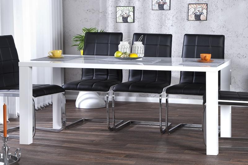 moderner design esstisch wei hochglanz 160 cm von casa padrino esszimmer tisch kaufen bei. Black Bedroom Furniture Sets. Home Design Ideas