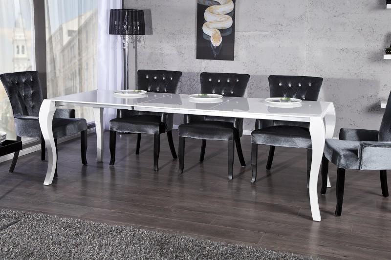 casa padrino barock esstisch hochglanz weiß mit auszug 170/200, Innenarchitektur ideen