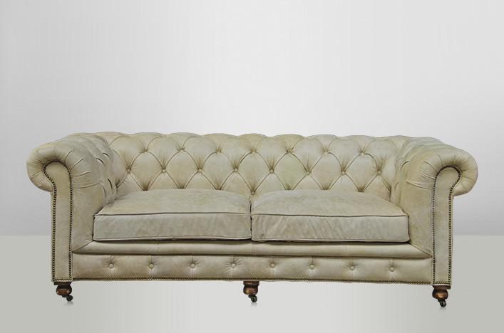 Chesterfield luxus echt leder sofa 2 5 seater vintage leder von casa padrino galata sawia Sofa echt leder