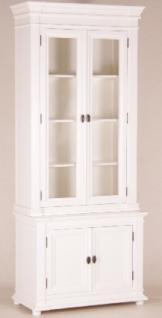 Casa Padrino Shabby Chic Landhaus Stil Schrank Buffetschrank Weiß B 100 H 242 cm- Schrank Esszimmer