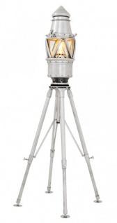 Casa Padrino Luxus Stehleuchte Marine Light Nickel Finish - Leuchte - Luxury Collection