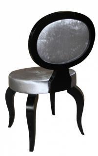 casa padrino barock salon stuhl grau schwarz ohne armlehnen designer stuhl luxus qualit t. Black Bedroom Furniture Sets. Home Design Ideas