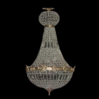 Barock kronleuchter gold mit glaskristallen h he 90 cm durchmesser 50 cm antik stil m bel - Kronleuchter barock ...