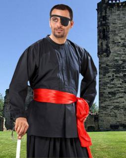 Warriors Medieval Piraten Shirt - Black