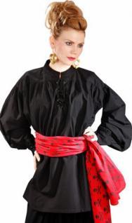 Grace O' Malley Poet Piraten Shirt - Black