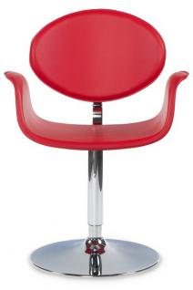 Casa Padrino Designer Stuhl Rot, drehbar - Moderner Stuhl