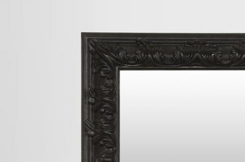 pomp ser barock spiegel rechteckig schwarz 157 x 124 cm kaufen bei demotex gmbh. Black Bedroom Furniture Sets. Home Design Ideas