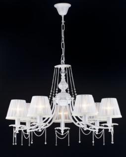 Casa Padrino Barock Decken Kronleuchter Kristall Creme Gold 75 x H 57 cm Antik Stil - Möbel Lüster Leuchter Hängeleuchte Hängelampe