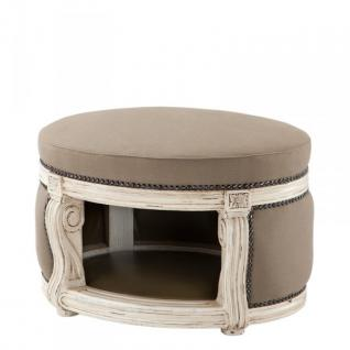 Barock Hunde & Katzen Haus Luxury Mod2 Sandfarben / Antik Weiß