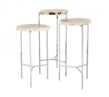 Beistelltische 3er set online bestellen bei yatego for Beistelltisch 3er set glas