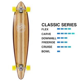 Mindless Complete Longboard Maverick III Talisman Wood - Pintail Professional Longboard 9.75 x 46.0 inches - Special Edition mit Koston Kugellagern